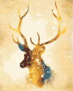 Kit Oleo Pintura Por Números Diy -animales Abstractos Ciervo