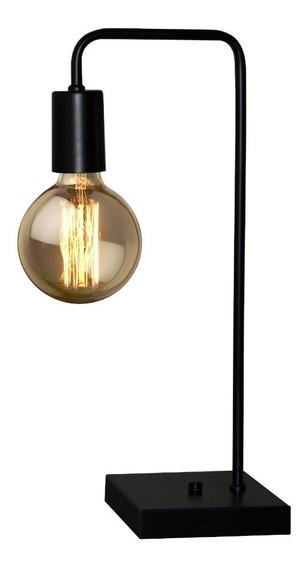 Abajur Luminaria De Mesa - Quarto Sala Cobre / Preto / Inox