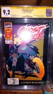 Ghost Rider #1 Cgc Firmado Por Stan Lee