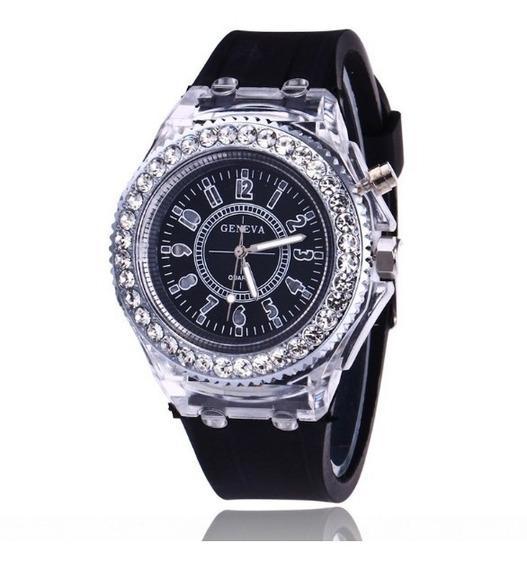 Relógio Feminino De Pulso Quartz Flash Relógio Luminoso