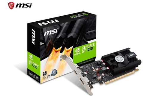 Tarjeta De Video Msi Nvidia Geforce Gt 1030 2gb Ddr5 64bits