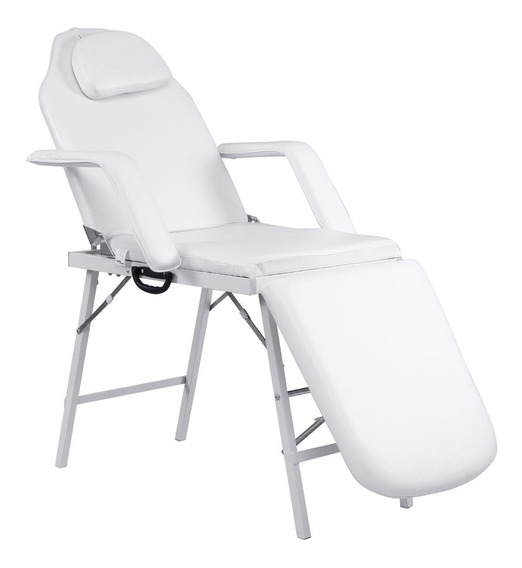 Silla Cama Camilla Salon Spa Facial Tatoo Profesional Blanco
