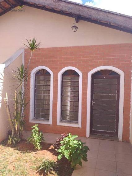 Casa Com 3 Dormitórios Para Alugar, 80 M² Por R$ 1.300/mês - Jardim Centenário - Mogi Guaçu/sp - Ca1436
