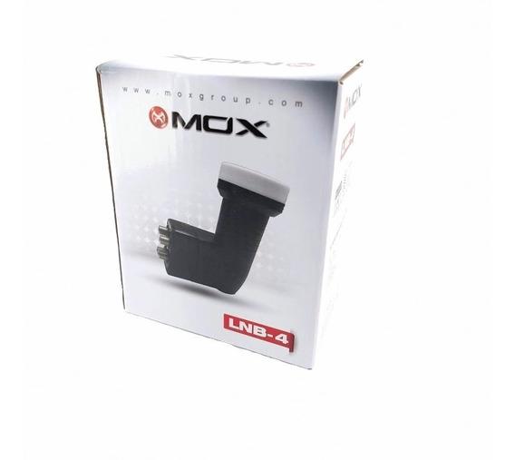 Kit Com2 Lnb Quadruplo 4 Saidas Mox 0.1db Ganho De 60db
