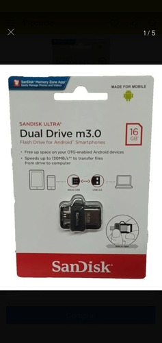 Imagen 1 de 3 de Dual Drive M3.0 16 Gb