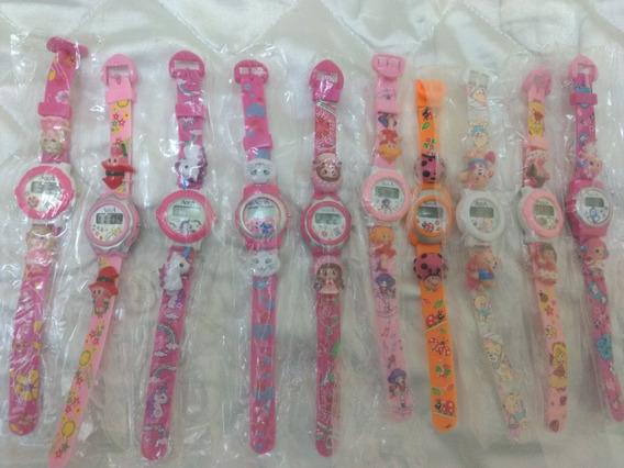 Relógio Infantil P/menina/resistente A Água/kit C/10/novos