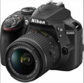 Câmera Nikon D3400, Bluetooth, Cartão 32g, Lente 18-55 Mm