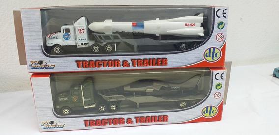 2 Caminhões Tractor & Trailer Militares Escala Ho Usados