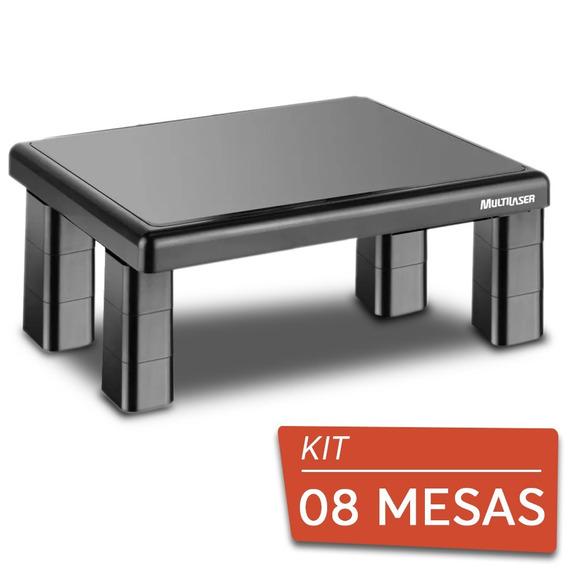 08 Suportes Base Para Monitor De Mesa Quadrado Multilaser