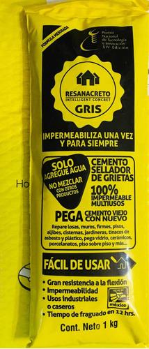 Imagen 1 de 10 de Resanacreto 1 Kg , Impermeabiliza Y Sella Grietas Fácil!!!