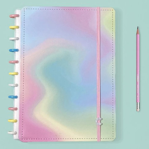 Caderno Inteligente Grande Color Candy Splash