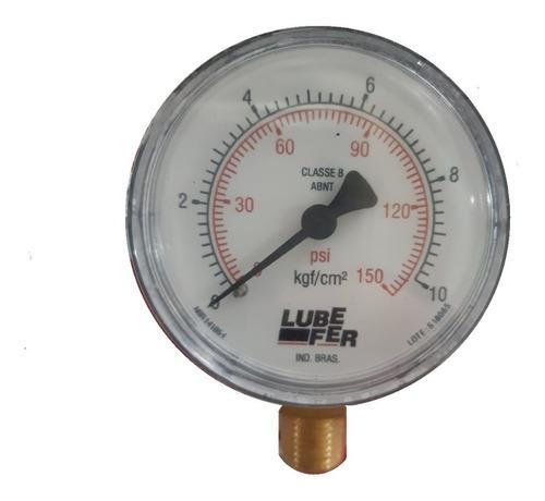 Imagem 1 de 1 de Manômetro Vertical De 150 Lbs  Para Ar Comprimido - Lubefer
