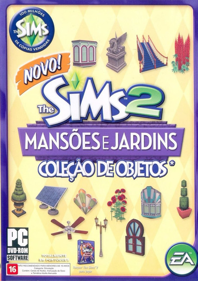Game Pc Lacrado The Sims 2 Mansoes E Jardins Objetos Dvd-rom
