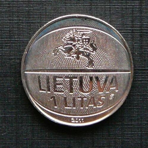 Moneda 1 Litas Lituania 2011 Campeonato Europeo Basquet