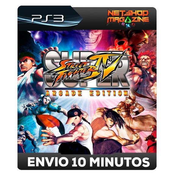 Super Street Fighter Iv Arcade Edition - Psn Ps3 - Envio Já