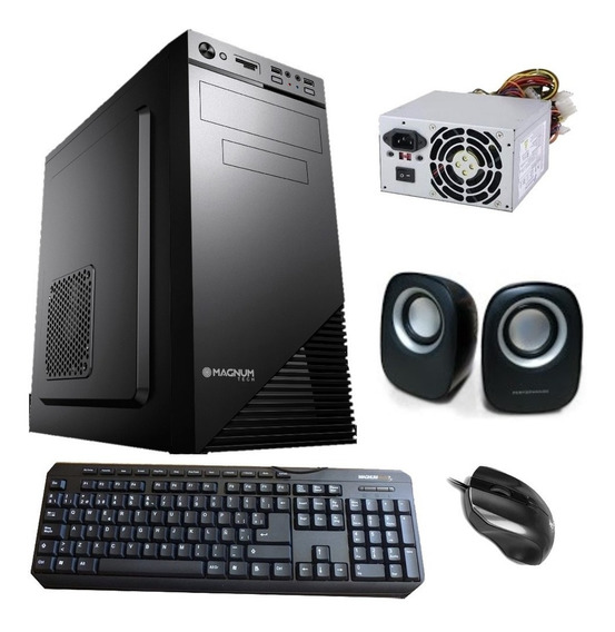 Gabinete Kit Pc Magnum Tech Mt K385 Fuente 500w Usb 2.0 Matx