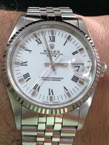 Rolex Oyster Perpetual Date Safira Fantástico Estado De Novo