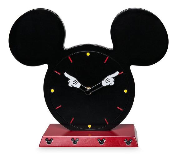 Dinsey Store Reloj Escritorio Madera Mickey Mouse Original