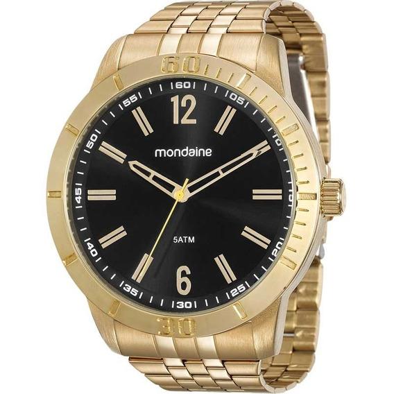 Relógio Mondaine Dourado Masculino 99194gpmvde1 Com Nota