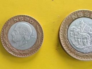 Monedas $n50 1993 Y $n20 1994