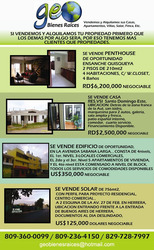 Vendemos Y Alquilamos Tu Casa, Apartamento, Solar, Villa Etc