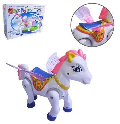 Cavalo Com Movimento Magic Pegasus Com Som E Luz A Pilha