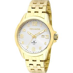 Relógio Technos Masculino Analógico Dourado 2115kny/4k