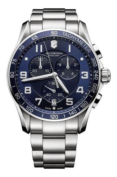 Relógio Victorinox 241652 Chrono Classic Xls Prata Original