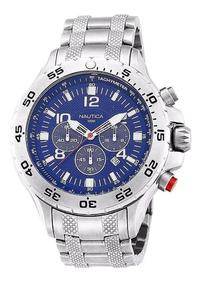 Relógio Nautica Azul Chronograph N19509g Envia Hoje