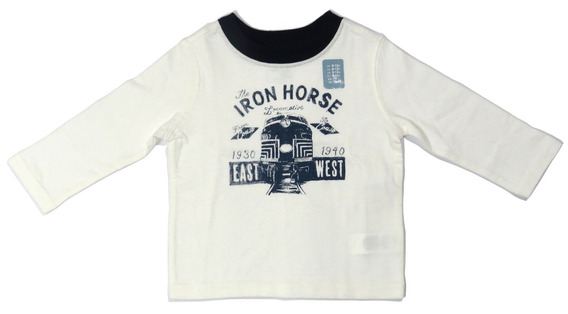 Camisa Infantil Baby Gap Branca E Azul 6 A 12 Meses