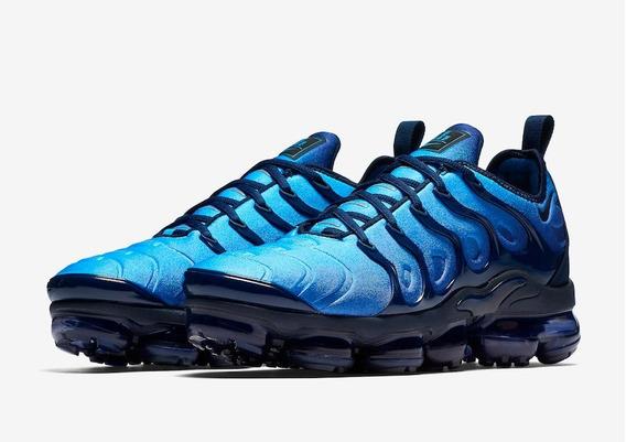 Tenis Nike Vapormax Plus Azul Original Lançamento 2019