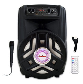 Parlante Portatil Usb Sd Mp3 Bluetooth Karaoke + 1 Microfono