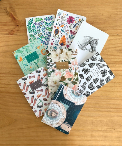 Promo Abril - 4 Cuadernos Rayados A5 - Mil Letterpress
