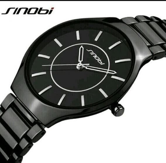 Relógio Pulso Sinobi Quarts Aço Inox