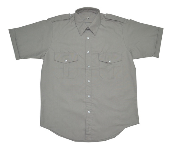 Camisa Camisola Táctica Ligera Gris D Vestir Formal Uniforme