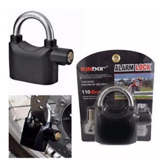 Candado Moto Bici Casa Con Alarma Motoscba