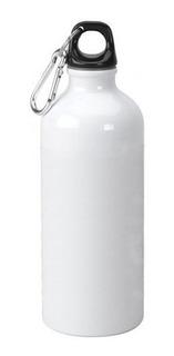 10 Squeeze Branco Mosquetão Sublimação Alumínio 400ml