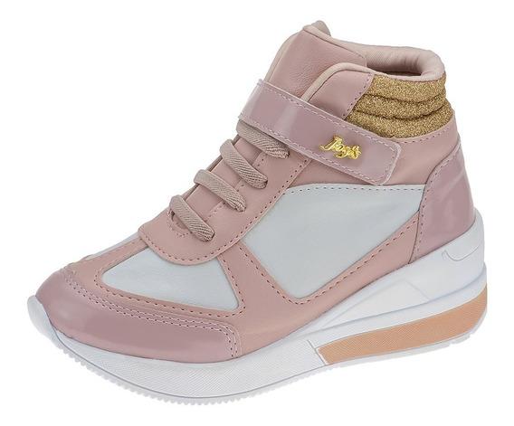 Tenis Casual Infantil Feminino Botinha Sneaker Joys
