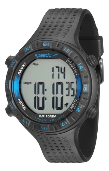 Relógio Masculino Speedo Pedômetro Fitness 80574g0evnp1 + Nf