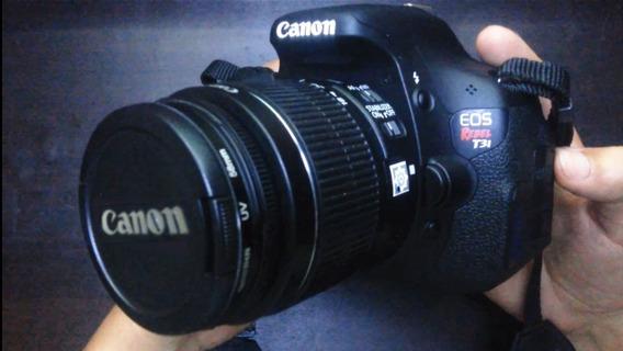 Câmera Canon T3i Rebel + Lente 18-55mm + Microsd 16gb