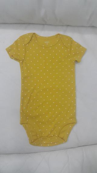 Body Bodie Carter´s Carters Amarelo * 9 Meses * 1 Peça Body