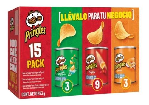 Imagen 1 de 1 de Pringles Mix 15 Pzas De 37 Y 40 G C/u