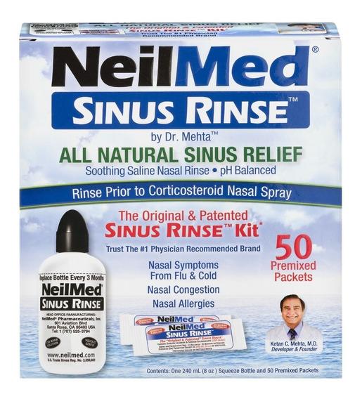 Neilmed Sinus Rinse 1 Botella 240ml + 50 Paquetes
