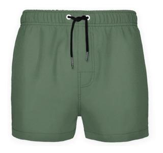 Traje De Baño Secado Rapido Verde Seco Crouch