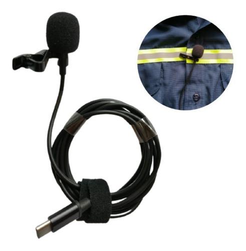 Micrófono De Solapa Para Celular Entrada Tipo C