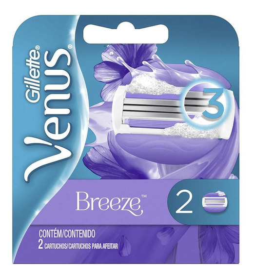 Carga Gillette Venus Breeze Com 2 Unidades