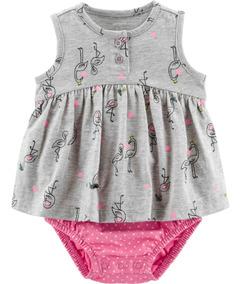 Body Vestido Carters Flamingo
