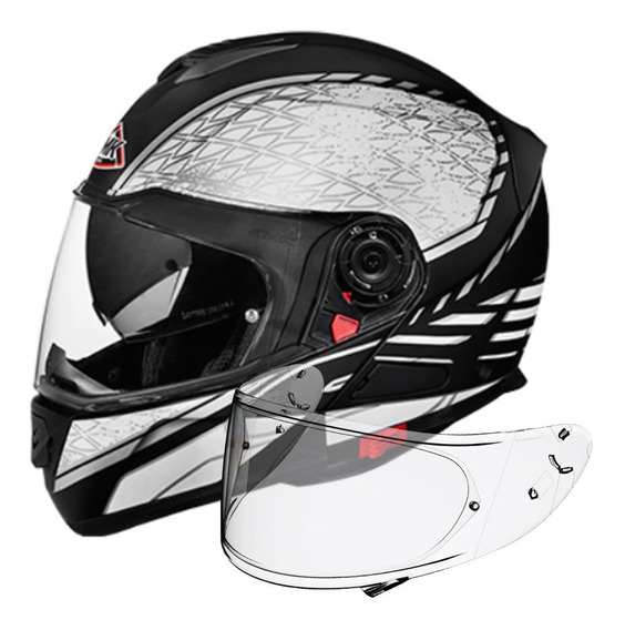 Casco Moto Rebatible Smk Doble Visor Glide Pinlock -ahora 12