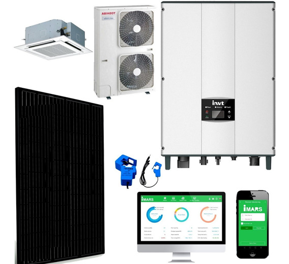 Kit Solar Invt De Aire Acondicionado 380 Uso Comercial Y Mas
