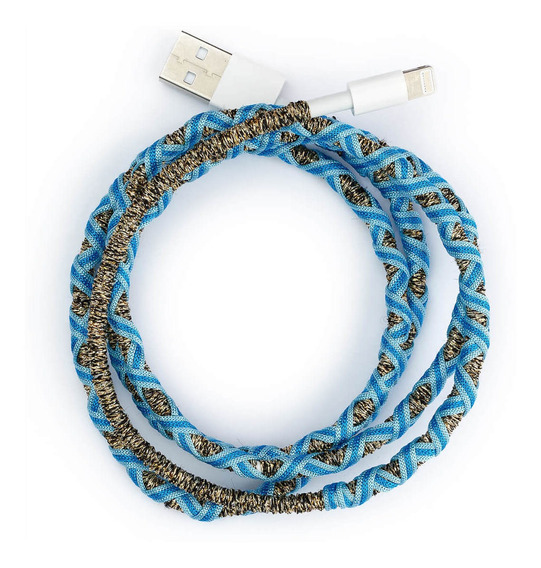 Cable Usb Celeste Para iPhone Mujer Lounge